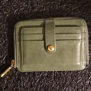 Hobo International leather wallet moss green
